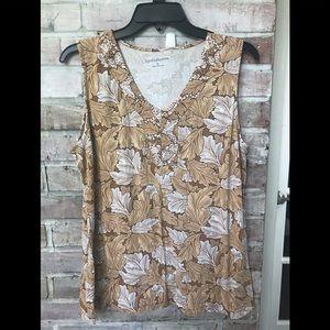 Croft &Barrow knit sleeveless top. Size large